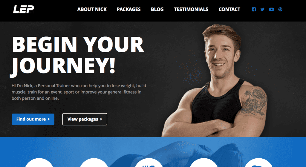 LEP Fitness website