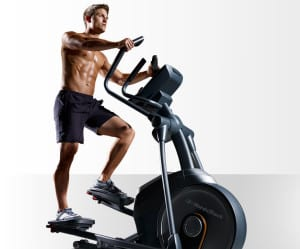 man on cross trainer