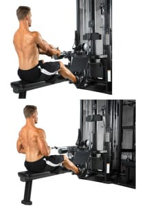 seated cable-row machine for the back - one of the best machines for beginner weight training