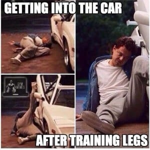 getting into the car after training legs with LEP Fitness - sheffield personal trainer - sheffield personal training - sheffield personal trainers