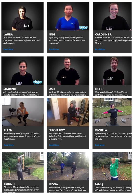 private personal trainer in sheffield - LEP Fitness - customer testimonials
