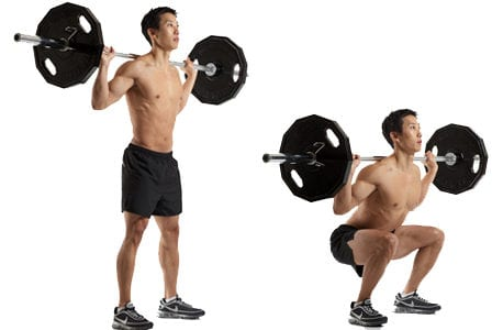 Barbell squats LEP Fitness
