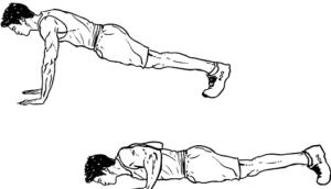 Push Ups (chest, triceps)