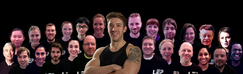 LEP Fitness and members - a private personal training studio based in sheffield