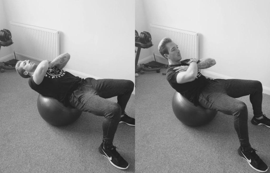 fitness ball crunch