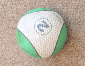 medicine ball in home gym