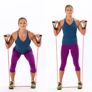 resistance band workout with LEP Fitness - based in Sheffield