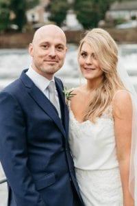 caroline and pat on their wedding day