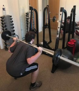 lifting weights with LEP Fitness in Sheffield
