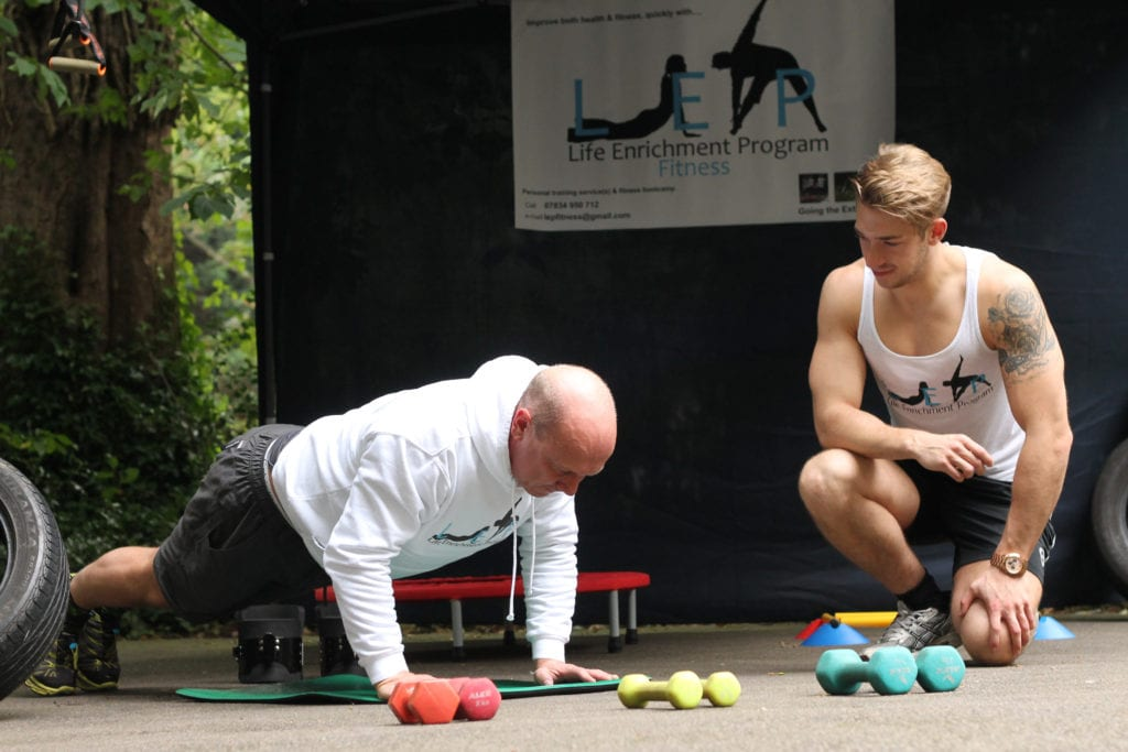 fitness training with LEP FITNESS