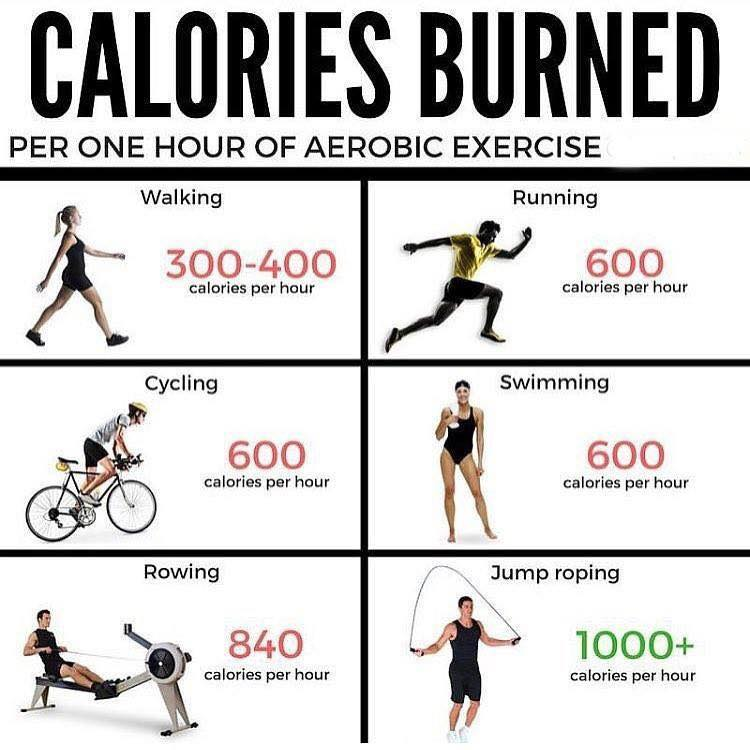 calories burned for cardio exercise