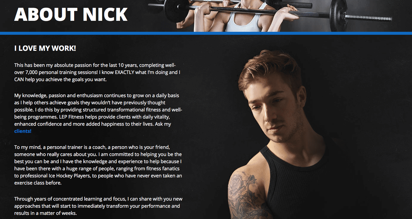 about Nick - sheffield personal trainer