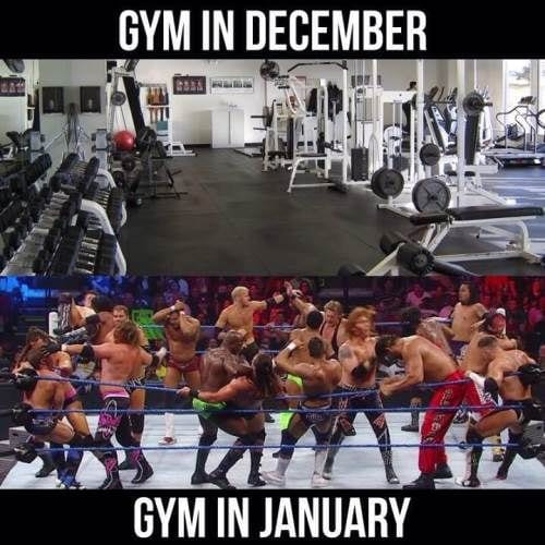 gym in december vs gym in january