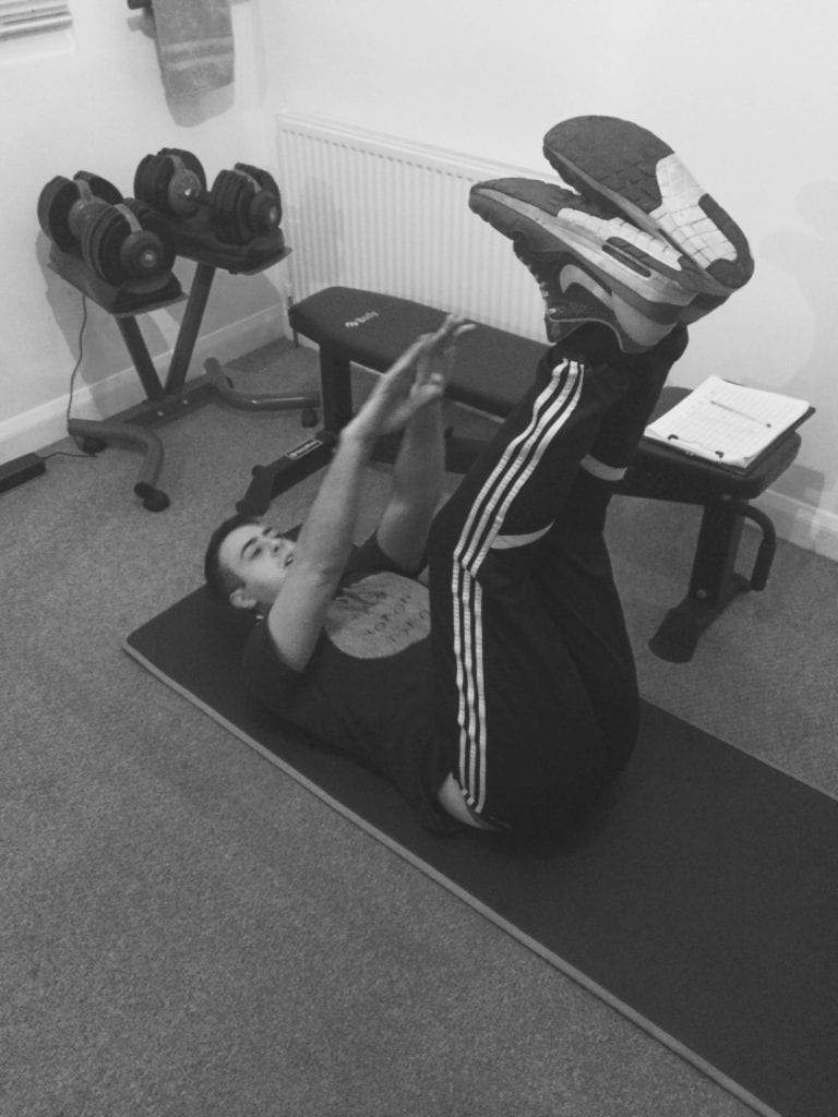 Elliot training with local sheffield personal trainer LEP Fitness