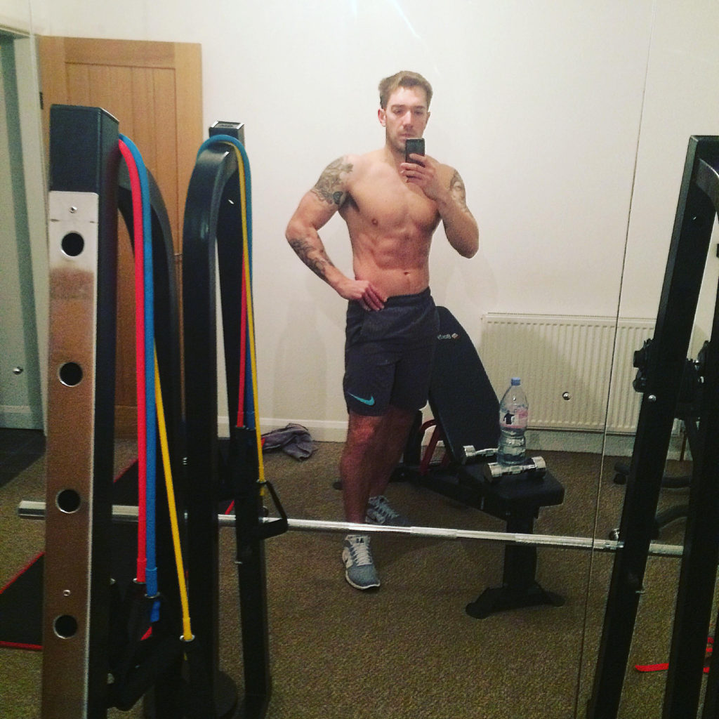 sheffield personal trainer works out at home