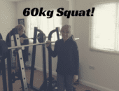 Julie reaches her squat goal of 60kg!