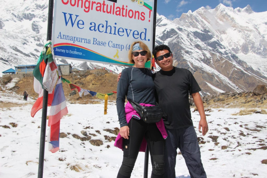 LEP Fitness member Elspeth hikes up Annapurna Base Camp : walking 64 hours in 8 days!