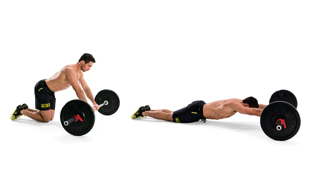 Barbell rollouts for abs