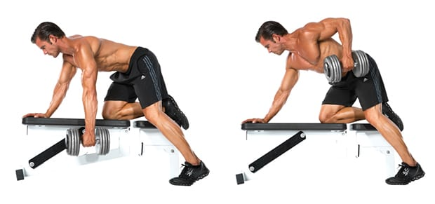 Dumbell rows with LEP Fitness