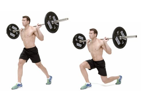 Barbell lunge LEP Fitness