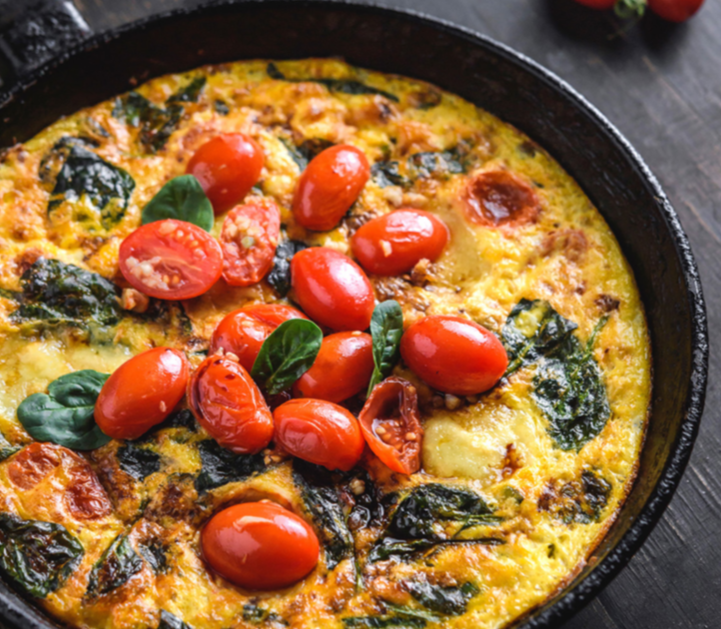 Keto Recipes with LEP Fitness - caprese frittata