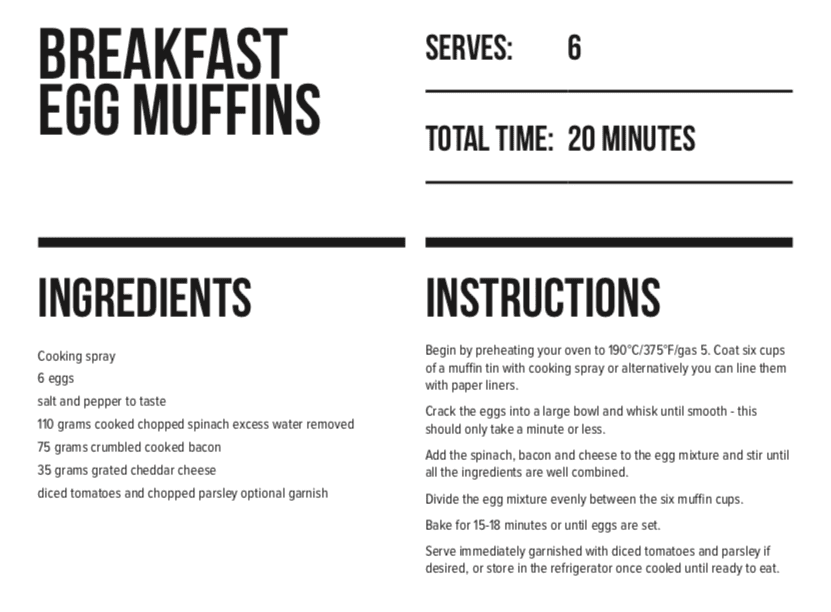 Keto Recipes with LEP Fitness breakfast muffins instructions for how to cook