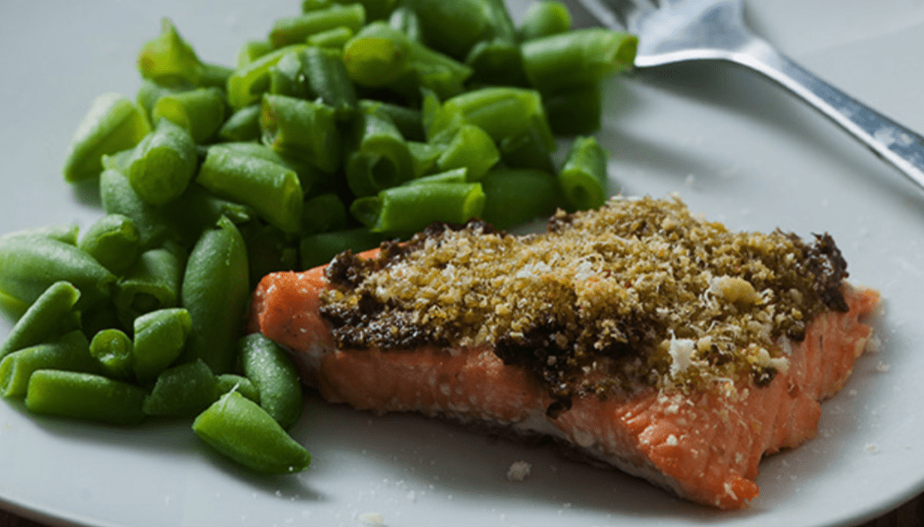 Keto Recipes with LEP Fitness - salmon with pesto - keto recipe