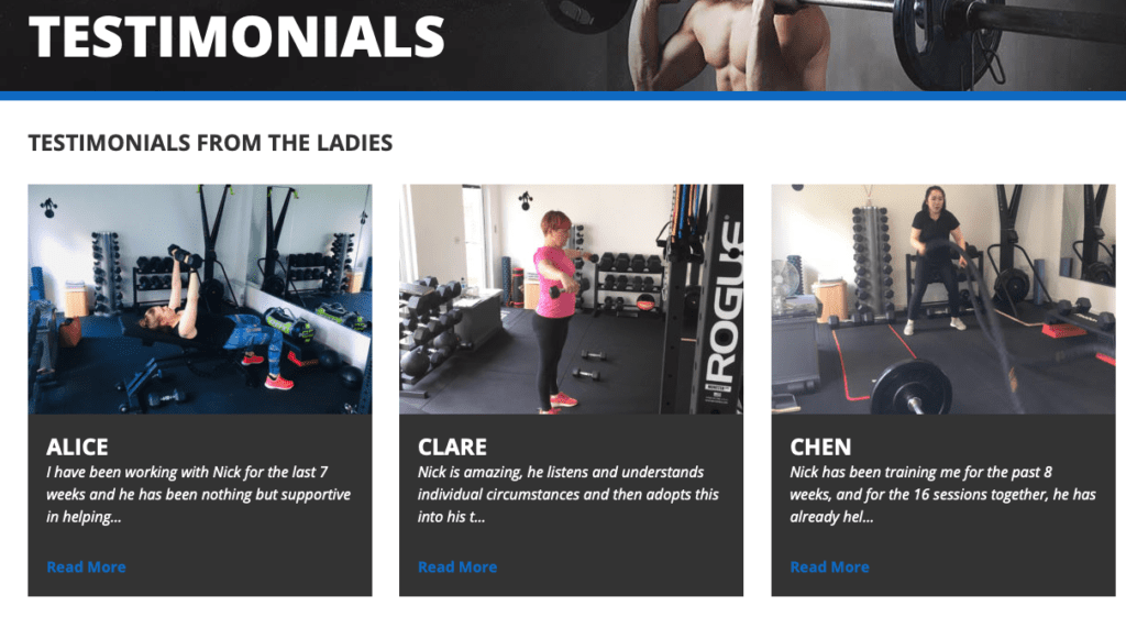 LEP Fitness Testimonials | personal trainer in Sheffield | private gym