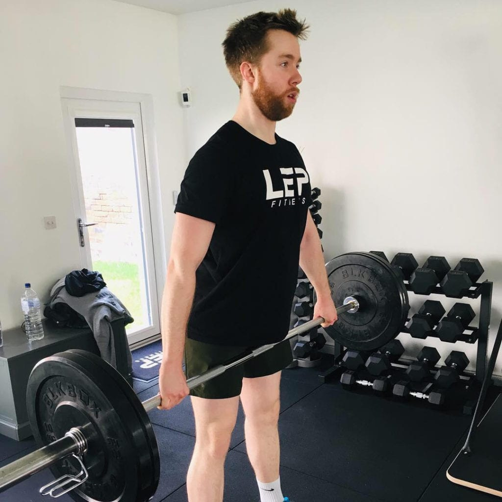working out with Sheffield personal trainer Nick Screeton owner of LEP Fitness