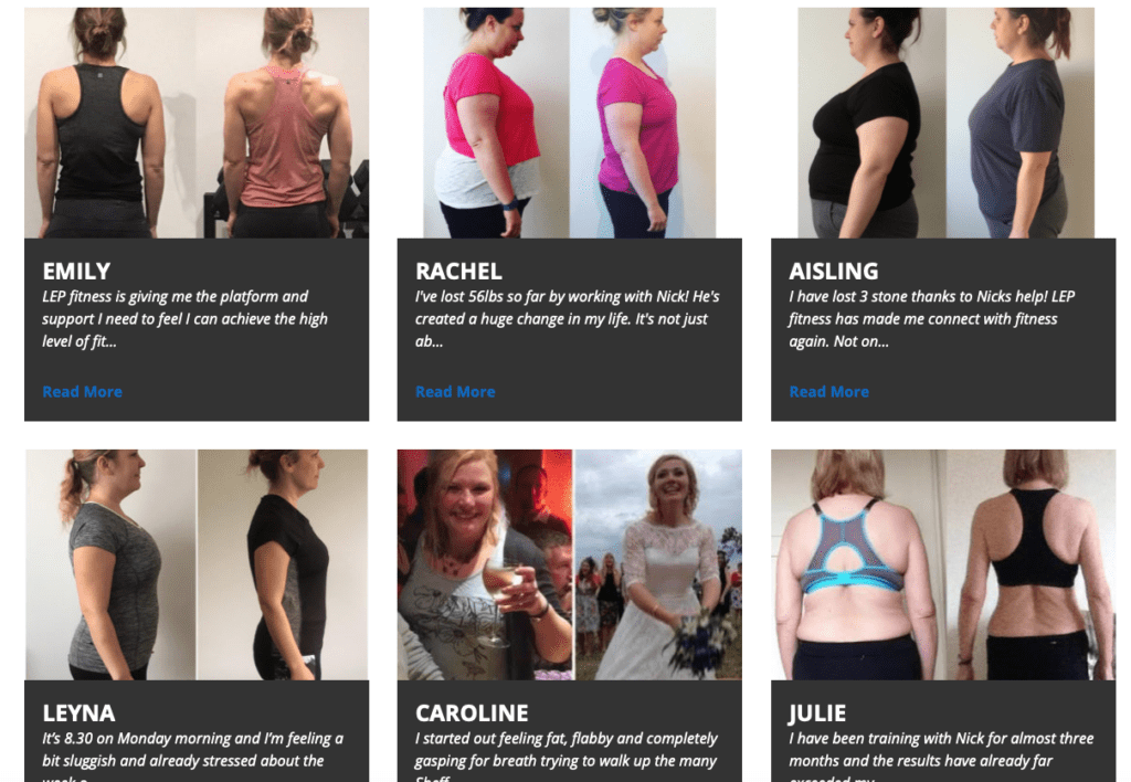 LEP Fitness testimonials - voted the best personal trainers in Sheffield