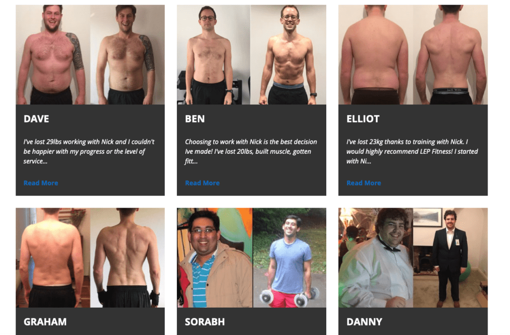 LEP Fitness reviews - voted the best personal trainer in Sheffield area