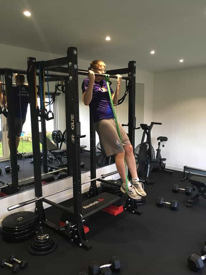 Sandy training with Sheffield personal trainer LEP Fitness