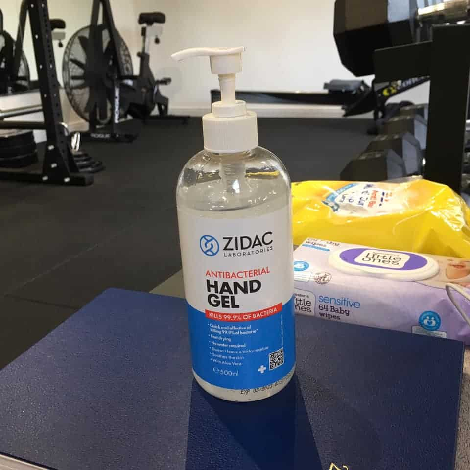 Sheffield personal trainer uses hand-sanitizer to protect clients during coronavirus epidemic