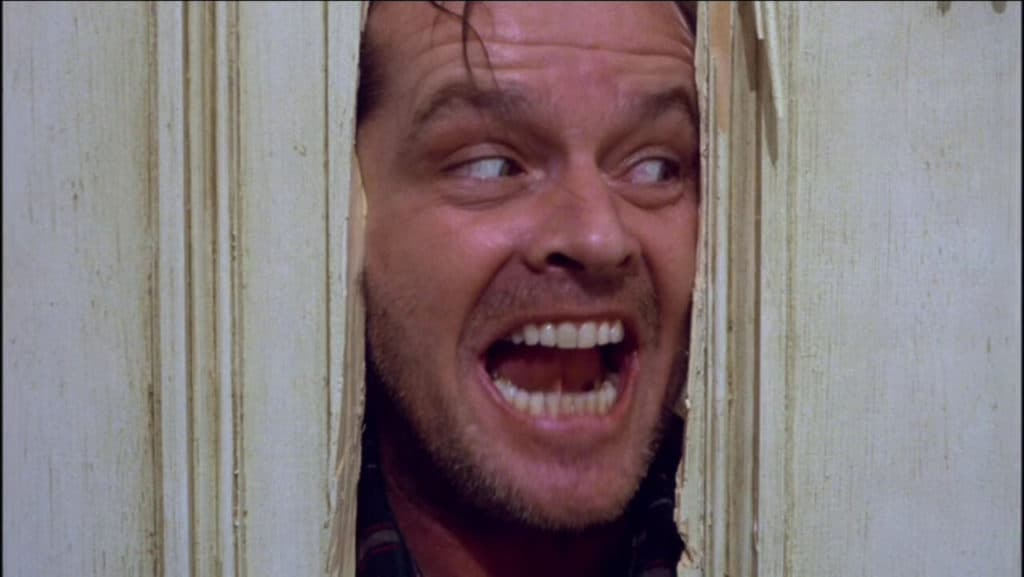 Jack Nicholson in the film The Shining
