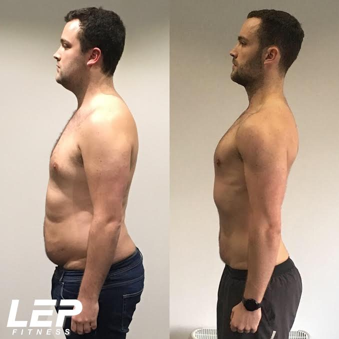 Body transformation results with LEP Fitness