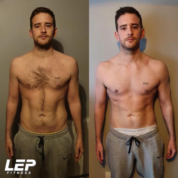 Body transformation with LEP Fitness - Jamie