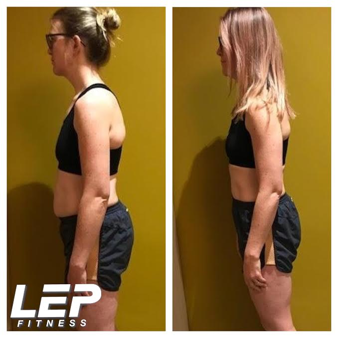 before and after pics with LEP Fitness