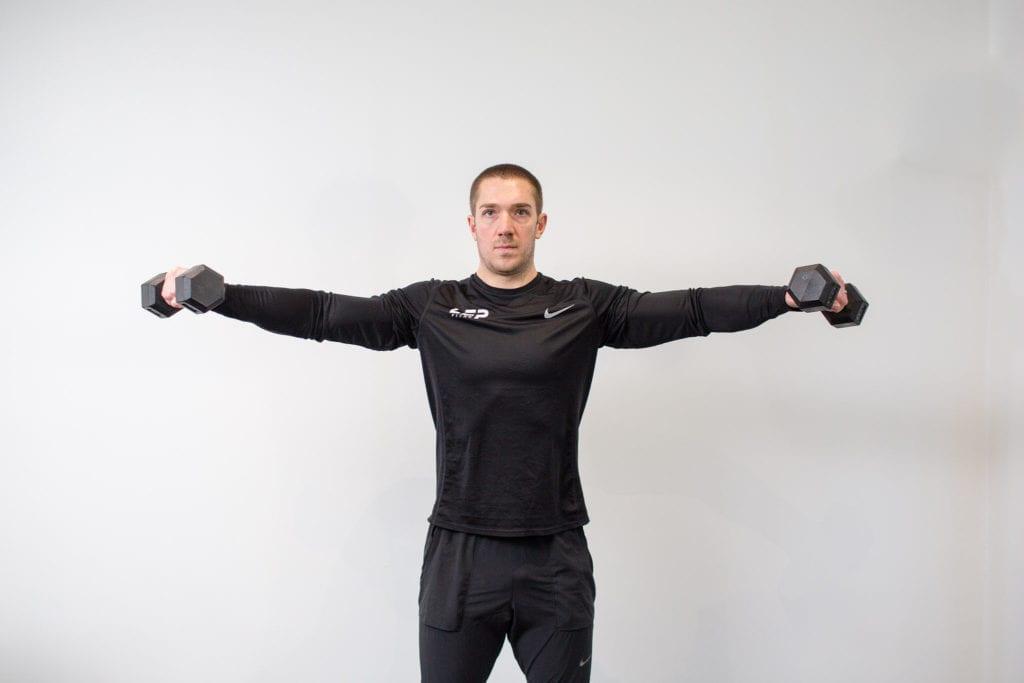 Nick screeton from LEP Fitness doing DB training