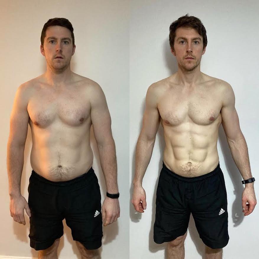 Luke's 8 Week Lockdown Transformation: 23lbs down!